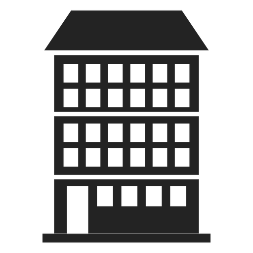 Condominium building black icon Transparent PNG