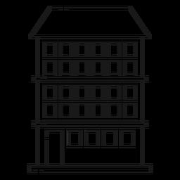 Icono de línea de construcción de condominio