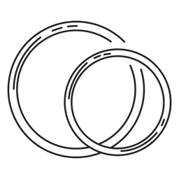 Couple rings line icon