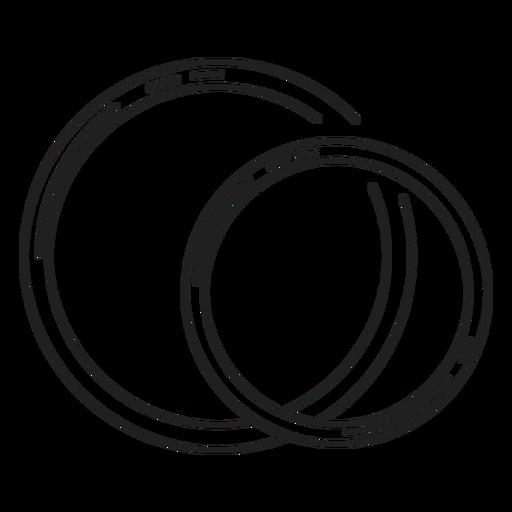 Paar Ringe Linie Symbol Transparent PNG