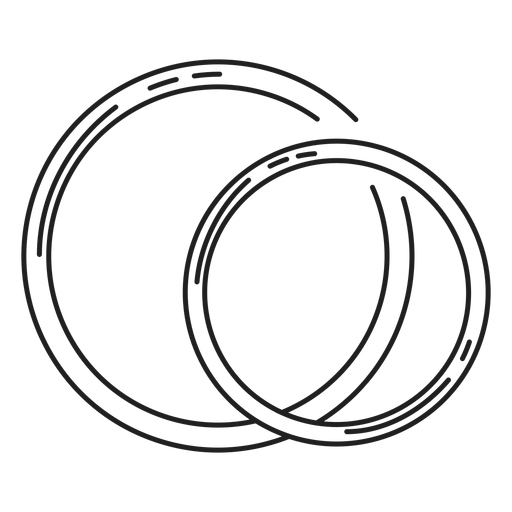 Pareja icono de línea de anillos Transparent PNG