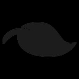 Gebogenes Blatt mit Stammschattenbild