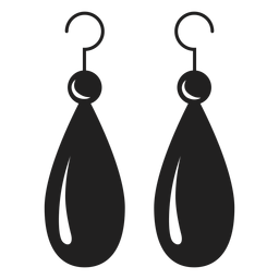 Dangle earrings black icon