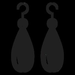 Pendientes colgantes icono negro