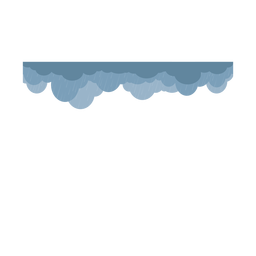 Dark heavy rain clouds vector