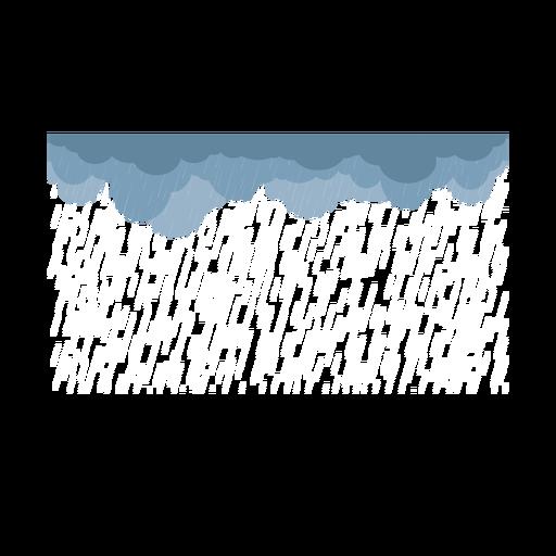 Vetor de nuvens de chuva pesada escura Transparent PNG