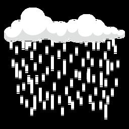 Lluvia oscura cirros nubes vector