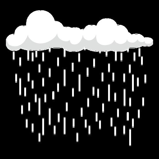 Vector de nubes cirros de lluvia oscura