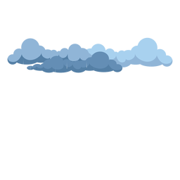 Dark rain clouds vector