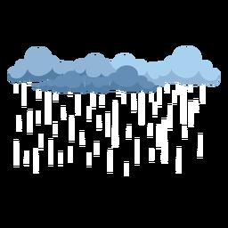 Vector de nubes de lluvia oscura