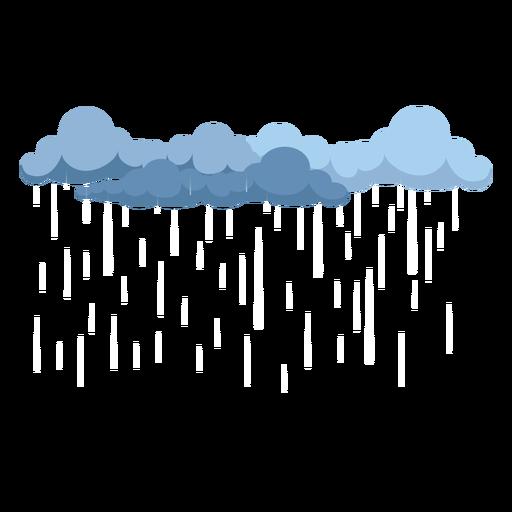 Vetor de nuvens de chuva escura Transparent PNG