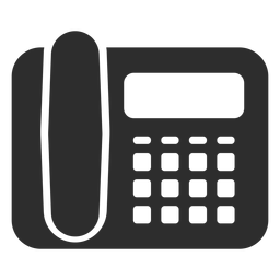Ícone de telefone preto de mesa
