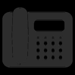 Icono de teléfono de escritorio negro