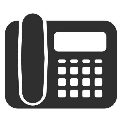 Ícone de telefone preto de mesa Transparent PNG