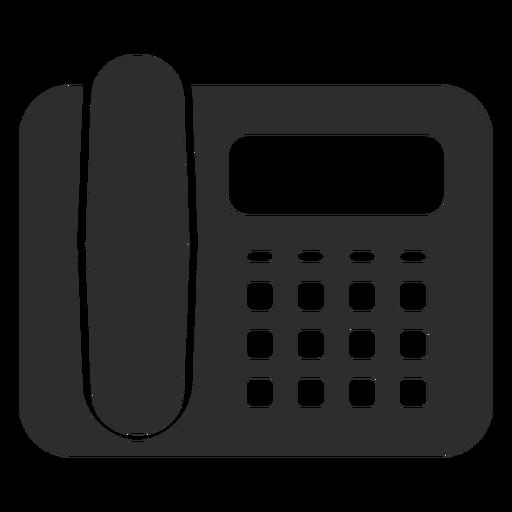 Icono de teléfono de escritorio negro Transparent PNG