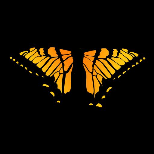 Detailed orange butterfly design Transparent PNG
