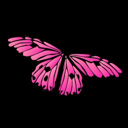 Borboleta de vetor detalhada borboleta rosa