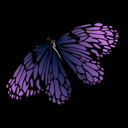 Diseño detallado de la mariposa púrpura