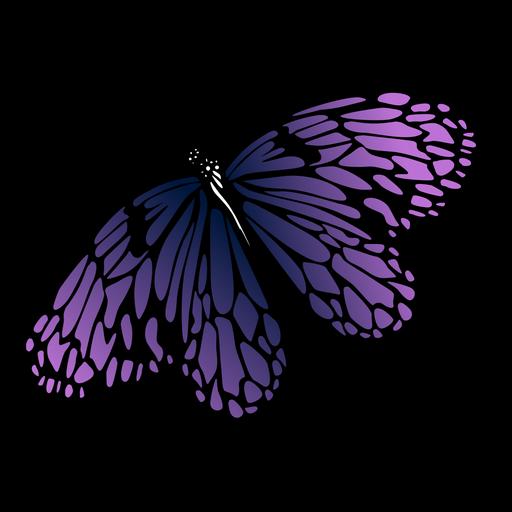 Ausführlicher lila Schmetterlingsentwurf Transparent PNG