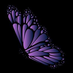 Ícono detallado de mariposa violeta
