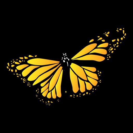Borboleta amarela detalhada do jardim Transparent PNG