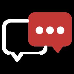Icono de globo de dialogo