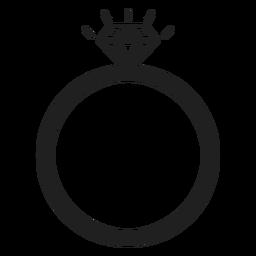 Icono de anillo de diamante
