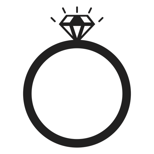 Diamond ring icon Transparent PNG