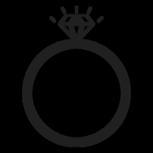 Icono de anillo de diamante Transparent PNG
