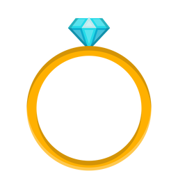 Vetor de anel de diamante