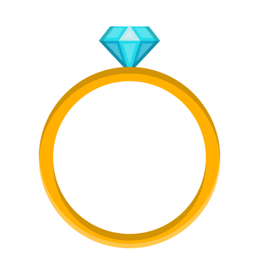 Diamond ring vector Transparent PNG