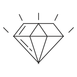 Diamond stone line icon