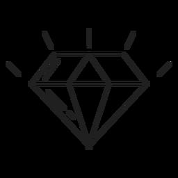 Icono de línea de piedra de diamante