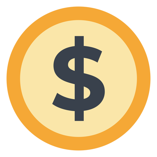 Icono de moneda dólar Transparent PNG