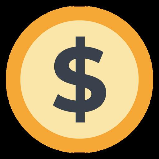 Icono de moneda dólar