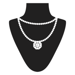 Doppelte Perlenkette