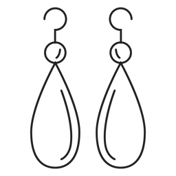 Drop dangle earrings icon