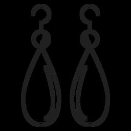 Icono de pendientes colgantes