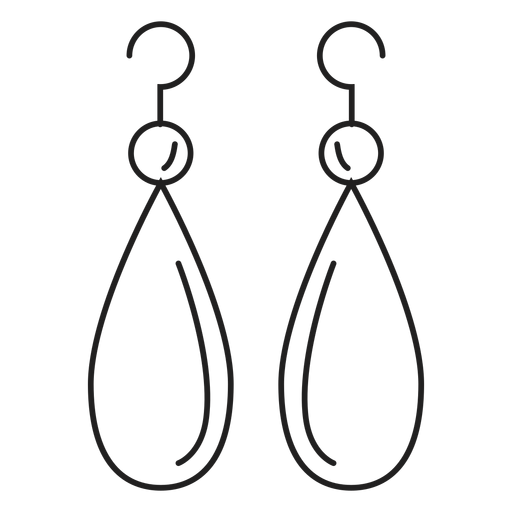 Drop dangle earrings icon Transparent PNG