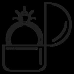 Icono de anillo de compromiso