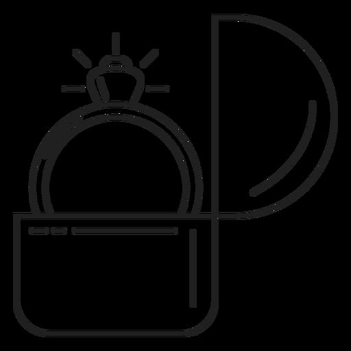 Ícone de anel de noivado Transparent PNG