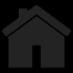 Icono de casa plana bungalow negro