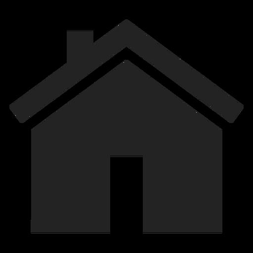 Ícone preto de casa de bangalô plano