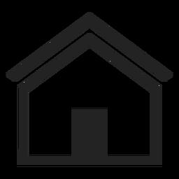 Ícone de casa em casa plana