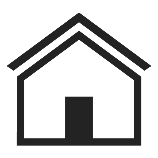 Flat home house icon Transparent PNG