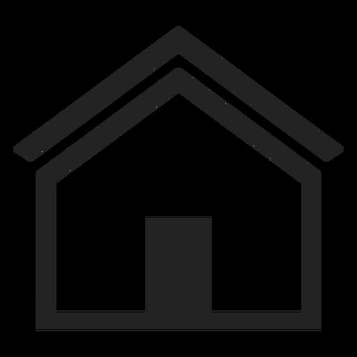 Icono de casa plana casa Transparent PNG