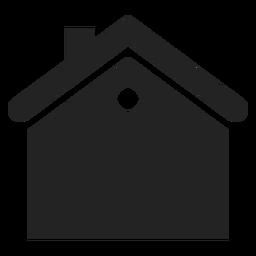 Flaches Haus schwarze Ikone