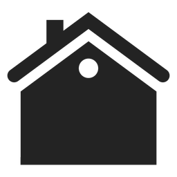 Flat house black icon