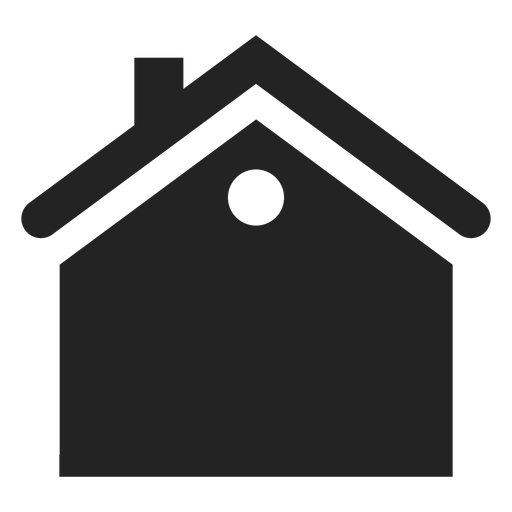 Flat house black icon Transparent PNG