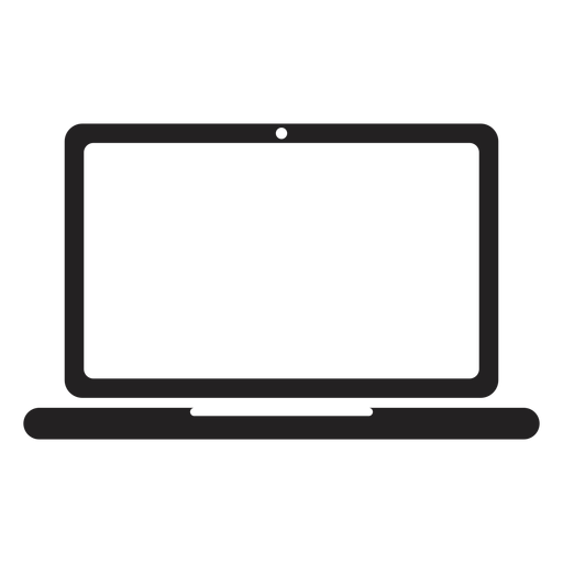 Icono portátil plano portátil Transparent PNG